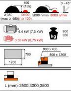 Piła Formatowa Kusing FPnp ATLAS 3000 z podcinakiem