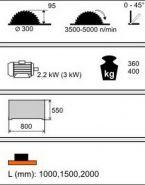 Piła Formatowa Kusing FPn Optim 1500
